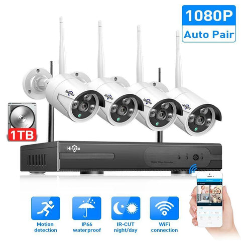 Wireless CCTV System Indoor/Outdoor CCTV Camera IP Security System video Surveillance - VolcanoNation.com