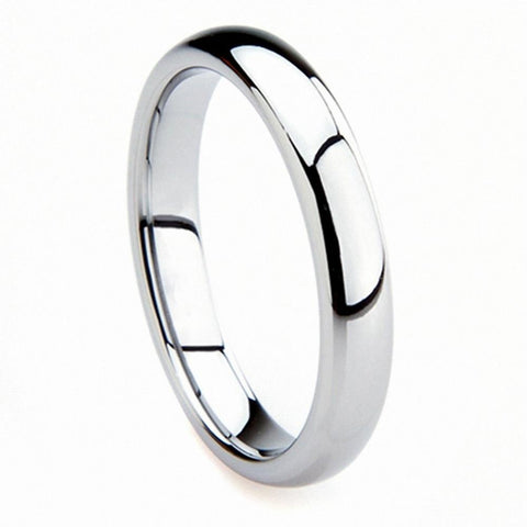 White Tungsten 3mm Wedding Ring - VolcanoNation.com