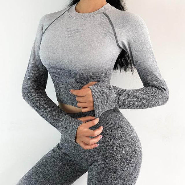 Set Fitness Seamless Gray