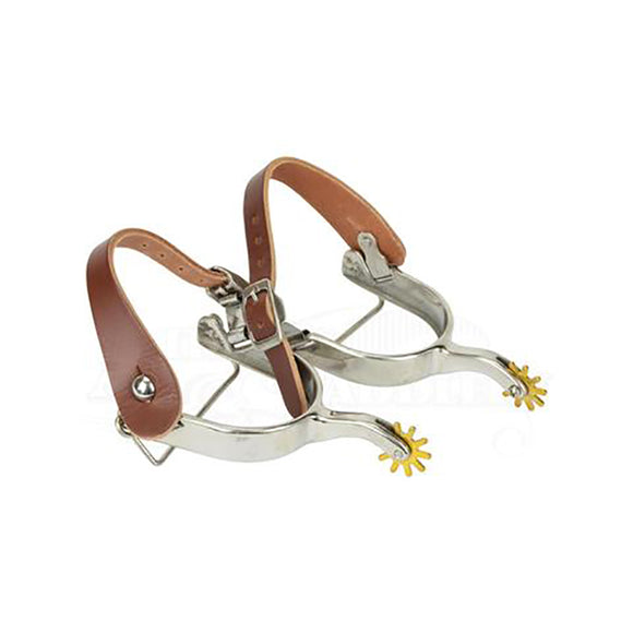 Rocky Campdraft Spurs with Leather Straps
