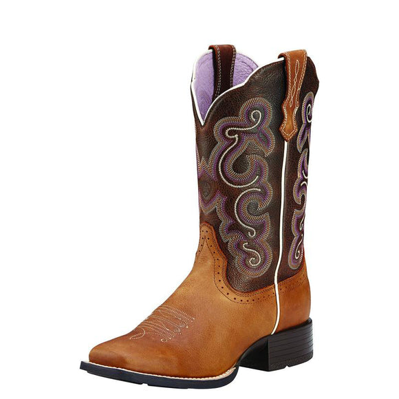 Ariat Wmns Quickdraw Badlands Brown Wicker Boot