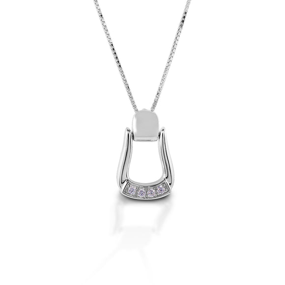 Kelly Herd Oxbow Necklace CZ Base Small