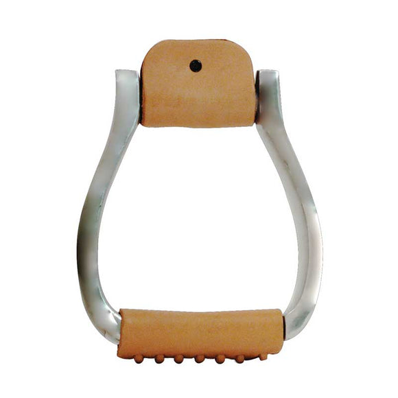Aluminium Visal Wide Stirrup with Leather