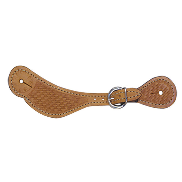 Basket Stamped Shaped Spur Strap 382RK