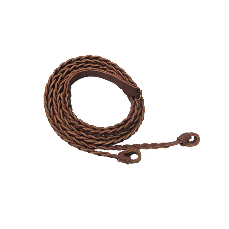 Marsh Carney 3 Plait Reins with Gulf Knot