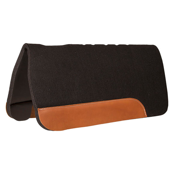 PVC Pad .25 black felt top .75in PVC bottom Oval cut vent holes Top grain wear leathers