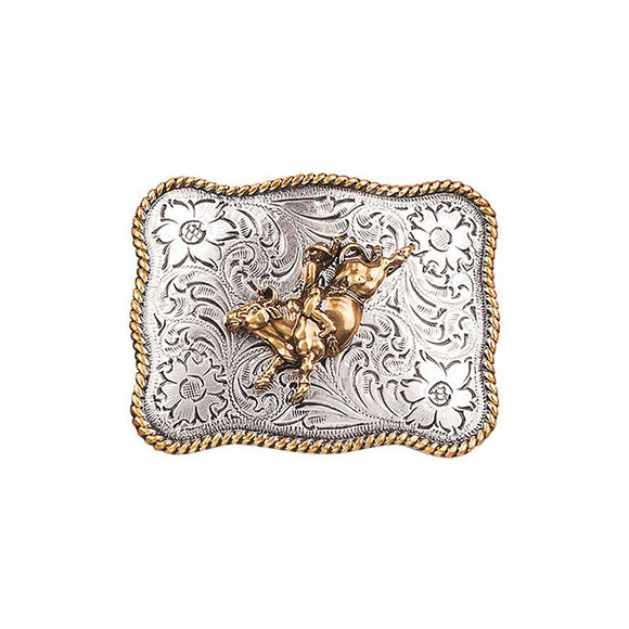 Rectangle Youth Bucking Bull Buckle