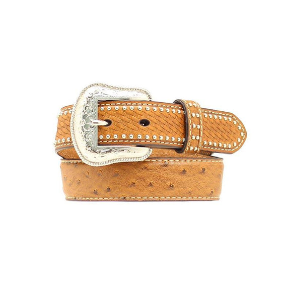 Nocona Children Ostrich Print Belt