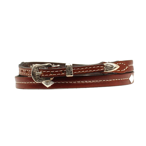 Tapered Hatband w Diamond Conchos