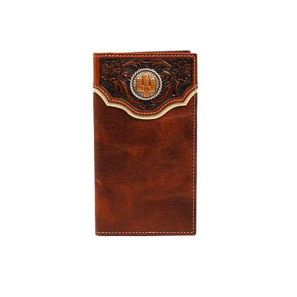 Rodeo Floral Embossed Overlay Cactus Wallet