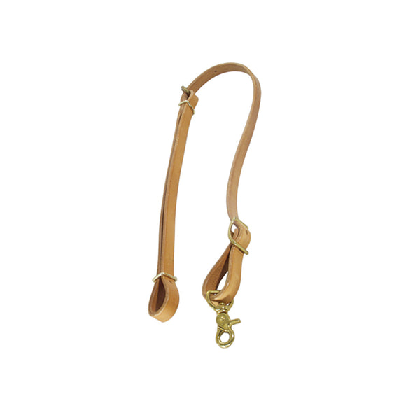 756HL Harness Leather Tie Down with Brass Hardware