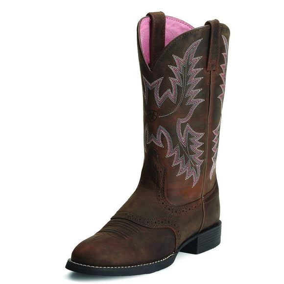 Ariat Wmns Heritage Stockman Driftwood Brown Boot