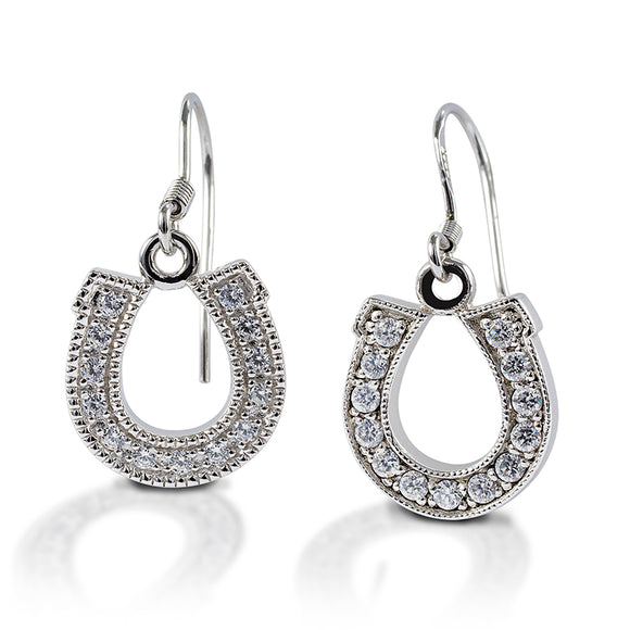 Kelly Herd Dangle Horseshoe Earrings