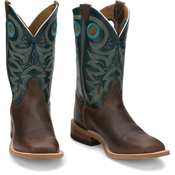 Justin Austin Teal 11in Boot