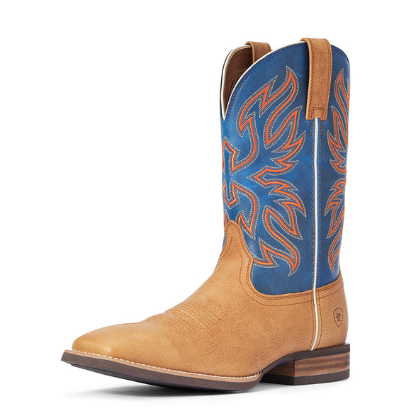 Ariat Mens Everlite Vapor Palomino Tractor Blue Boot