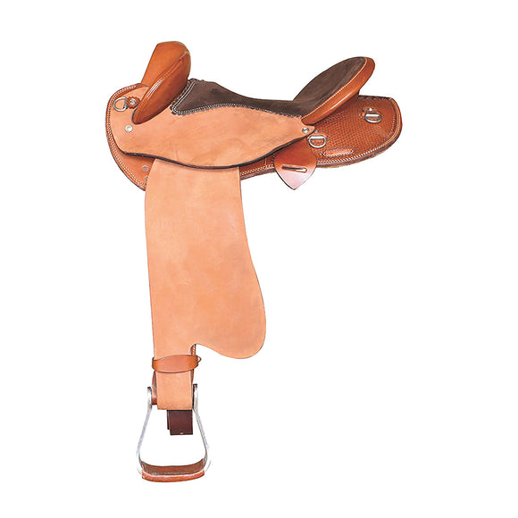 MCS Cattleman Saddle Basket Stamped Fender Half Breed Saddle