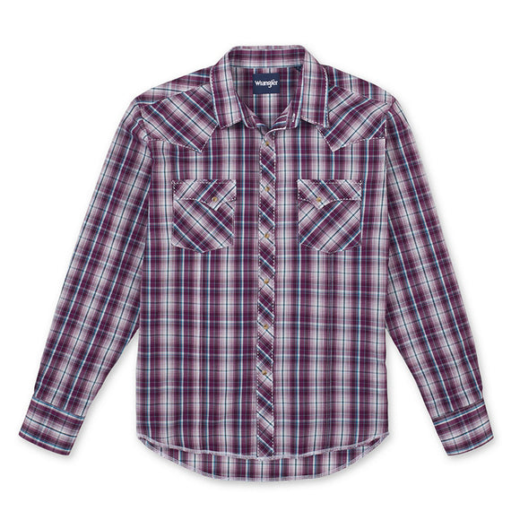 Wrangler Mens Fashion Snap Check L/S Shirt