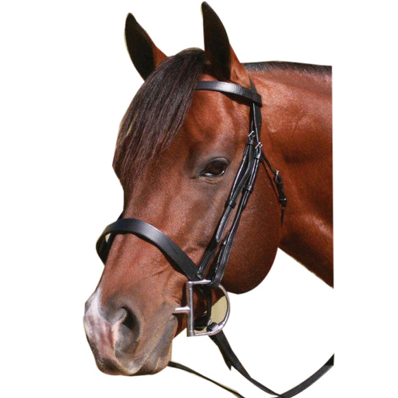 McAlister Flat Caveson Noseband Bridle