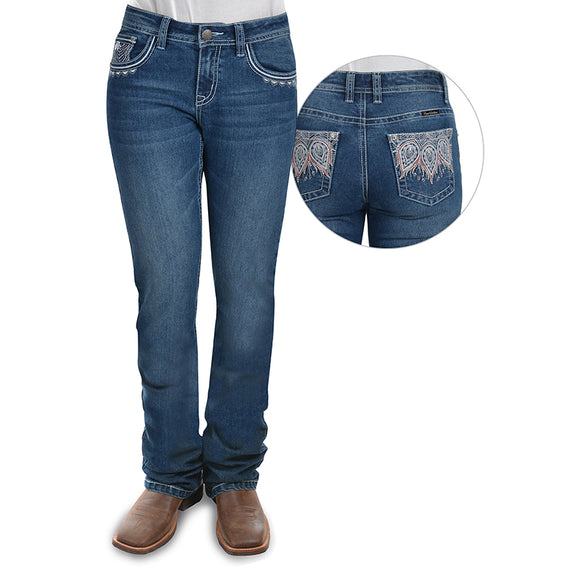 Pure Western Wmns Katelyn Relaxed Rider Jean