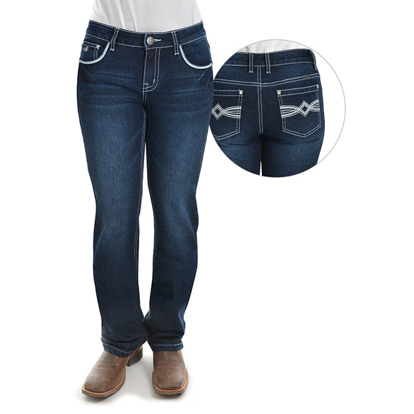 Pure Western Wmns Nancy Straight Leg Jean