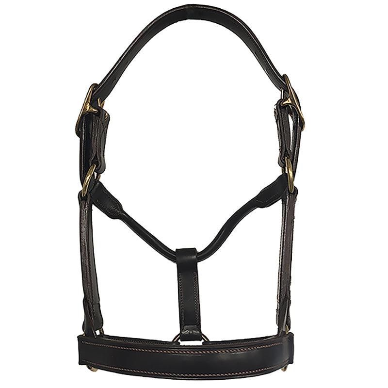 Aus Made Stallion Double Head Rolled Throat Leather Halter
