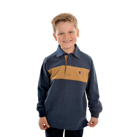 TC Boys Shaw Panel Stripe Rugby