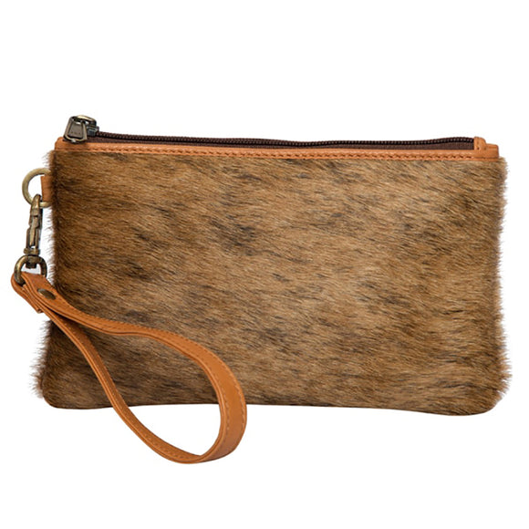 Toronto Hair On Clutch Wallet