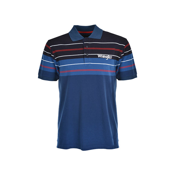 Wrangler Mens Stagg S/S Polo Shirt