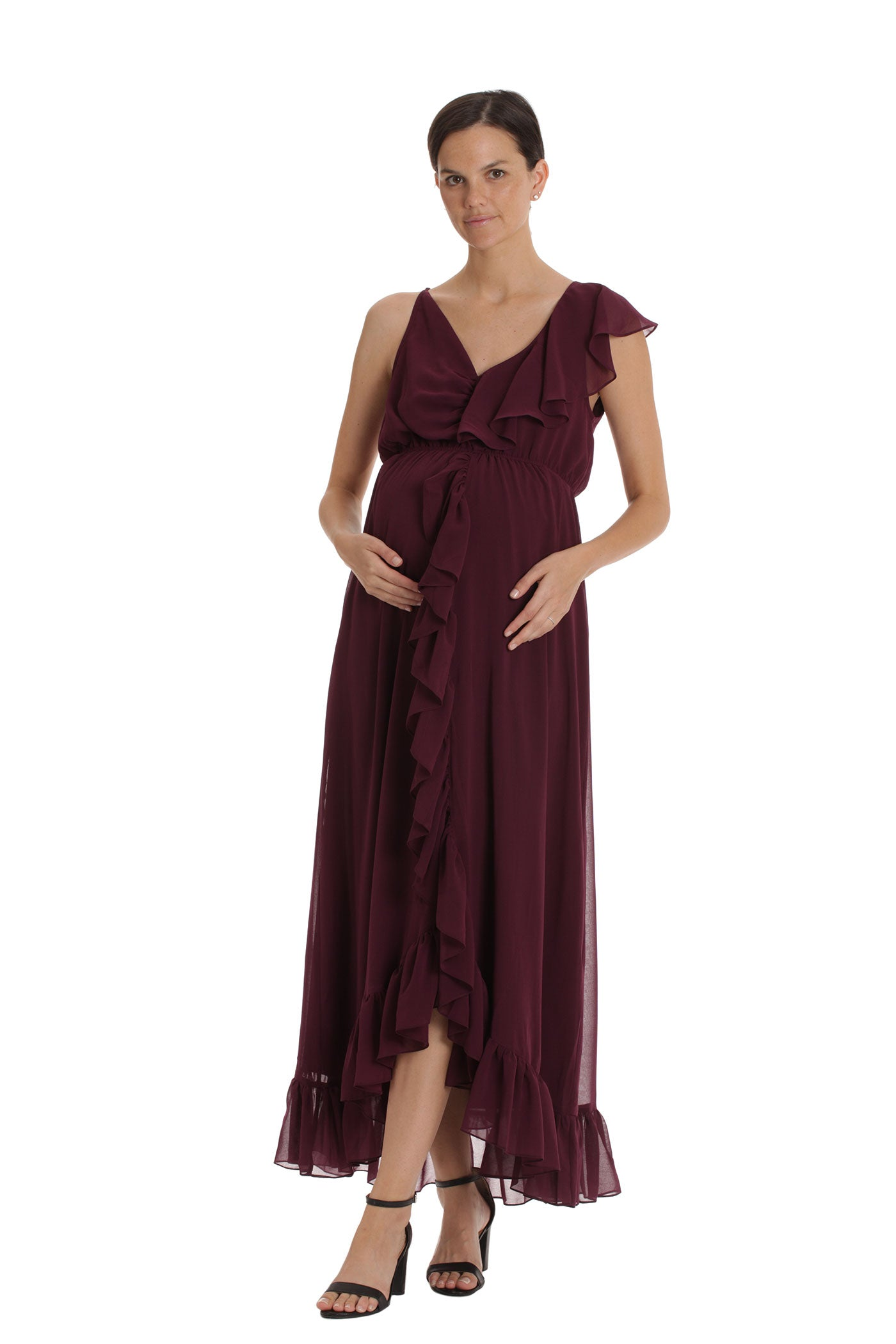 The Estelle Dress - Burgundy
