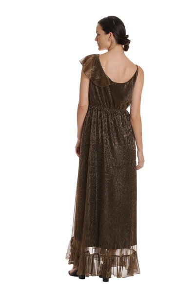 The Estelle Dress - Gold Metallic