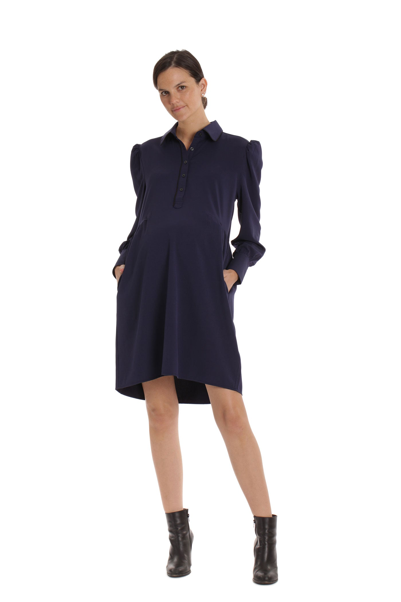 The Serena Dress - Navy
