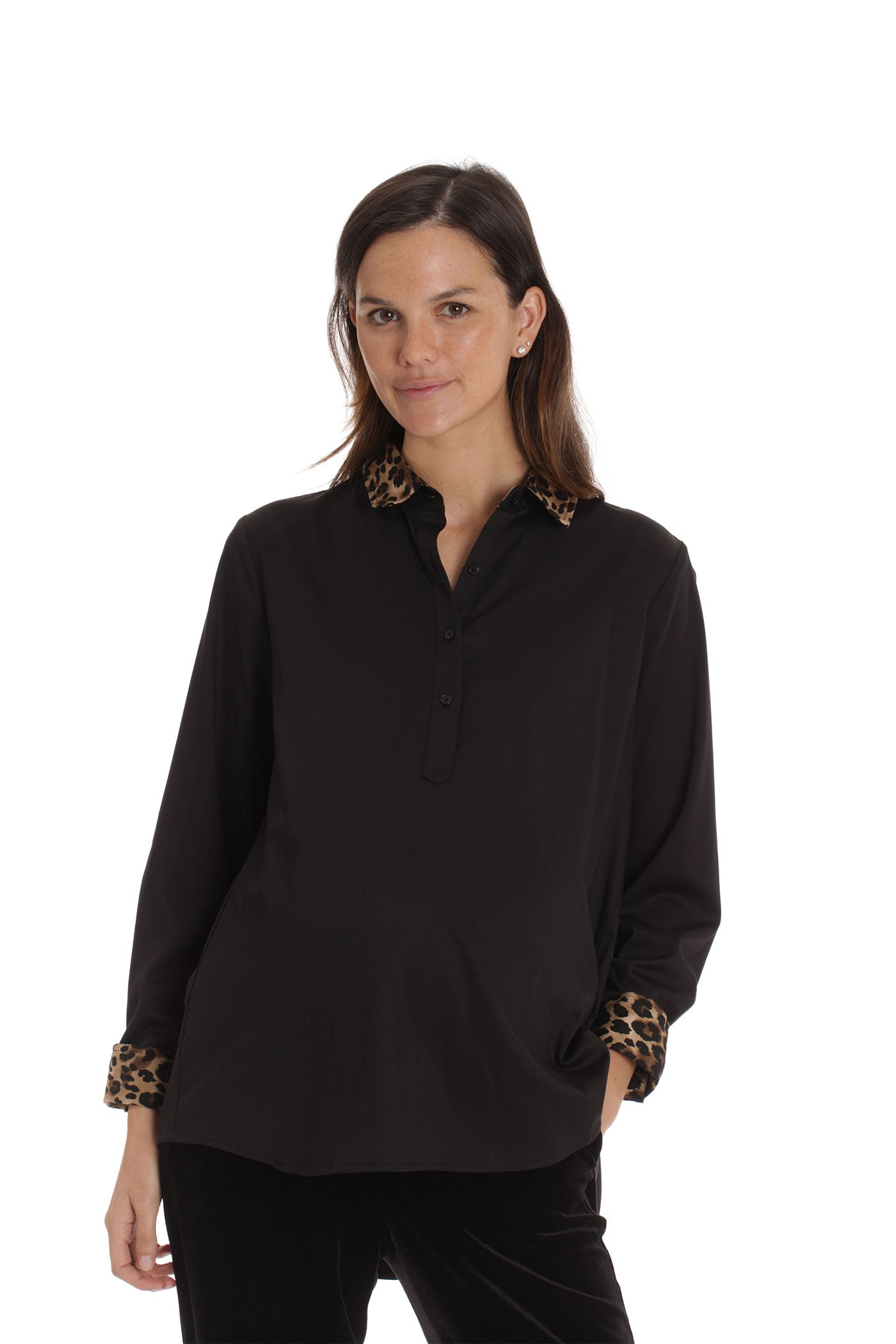 The Rohmi Top - Black Leopard