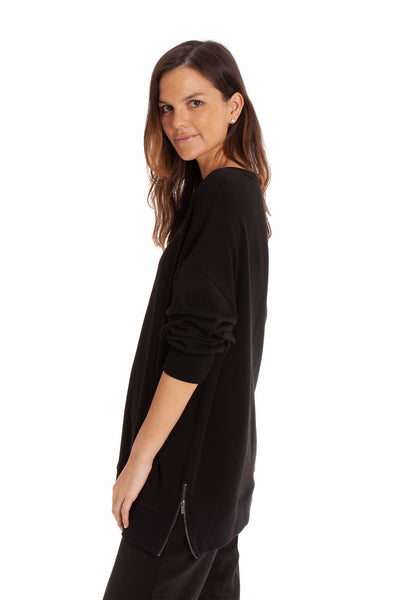 The Marni Top - Black Solid