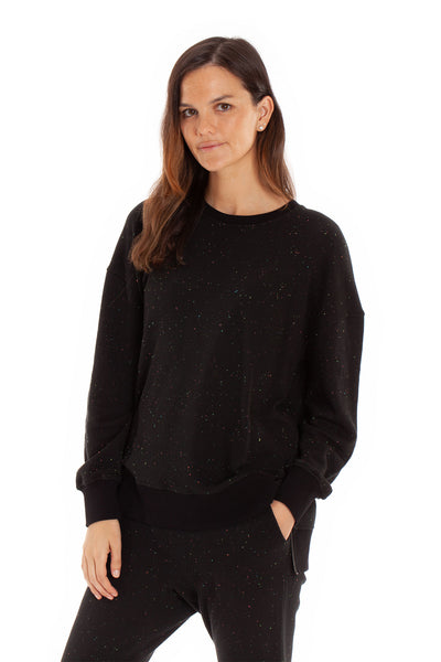 The Marni Top - Rainbow Speckled Black