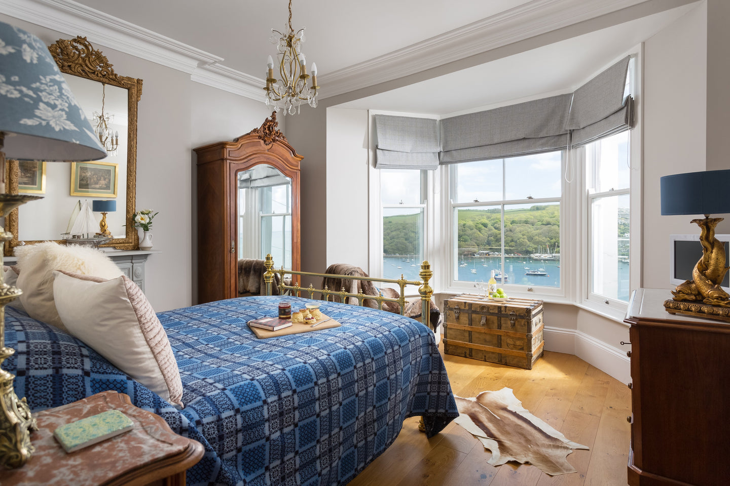A bedroom with a view