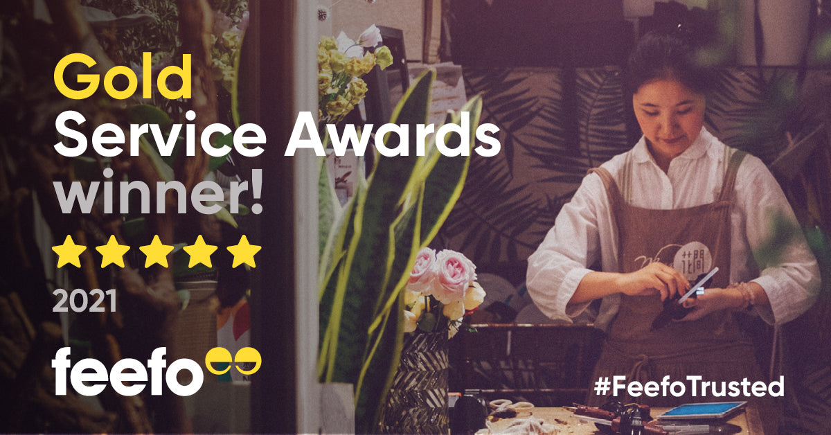 Winners of the Feefo Gold Trusted Service Reviews 2021