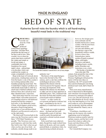 The Cornish Bed Company featured in This England magazine, Autumn issue