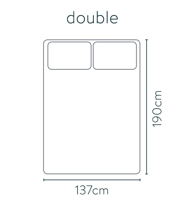 Double bed size