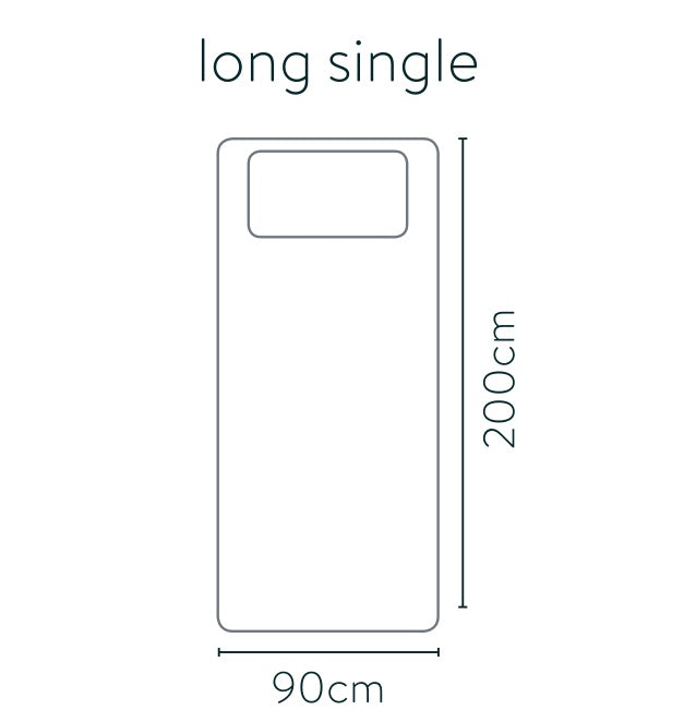 Long single bed size