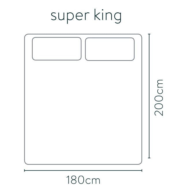 Super king bed size