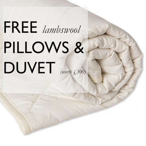 Free Organic Wool Pillows & Duvet | National Bed Month Offer