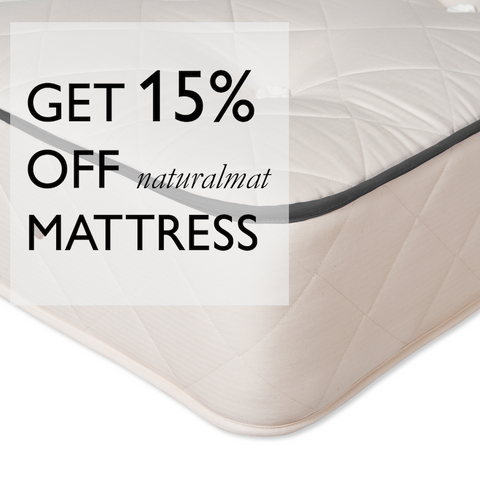 Get 15% off Naturalmat mattress | National Bed Month Offer
