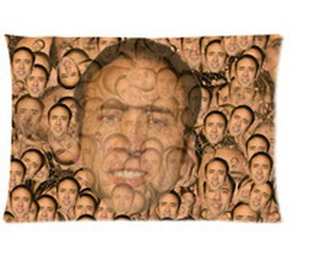 "Nicolas Cage Pillowcases Custom 20""x30"" Two Sides Cool Comfortable Pillow Case"