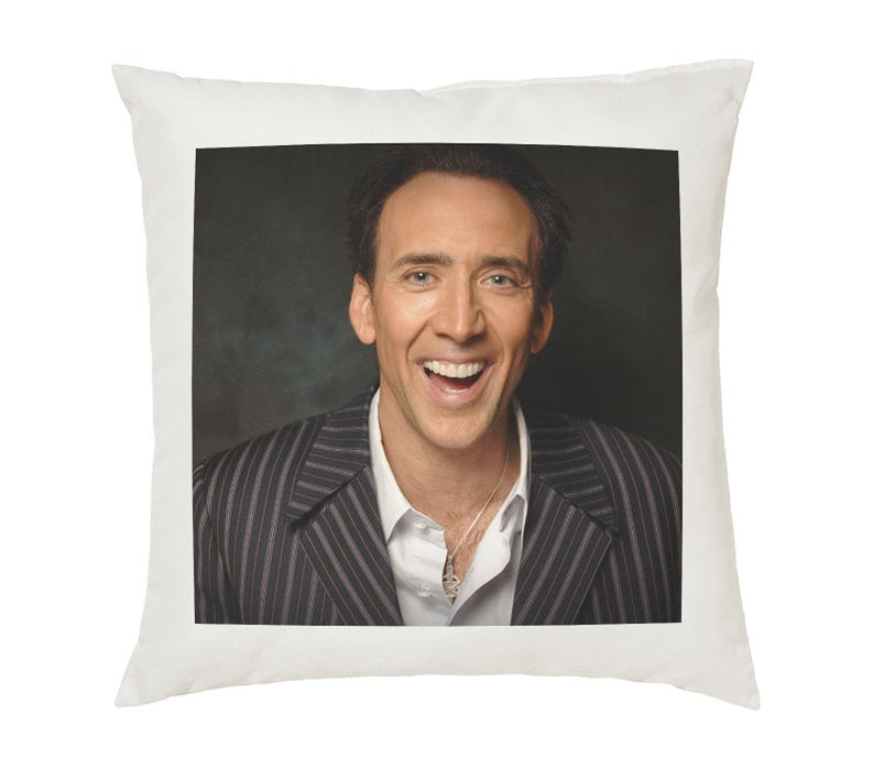 Nicolas Cage Pillow Cushion - 16x16in - White