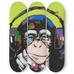 MONKEY WALL SKATEBOARDS ART