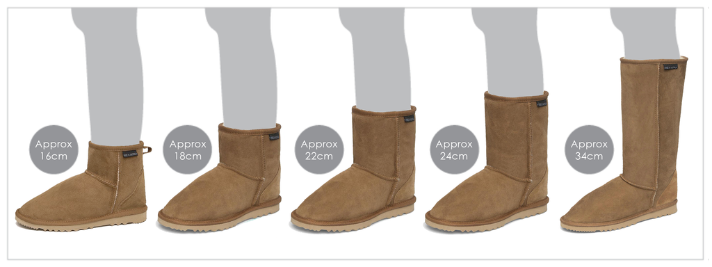 Ugg Boot Height Guide Diagram