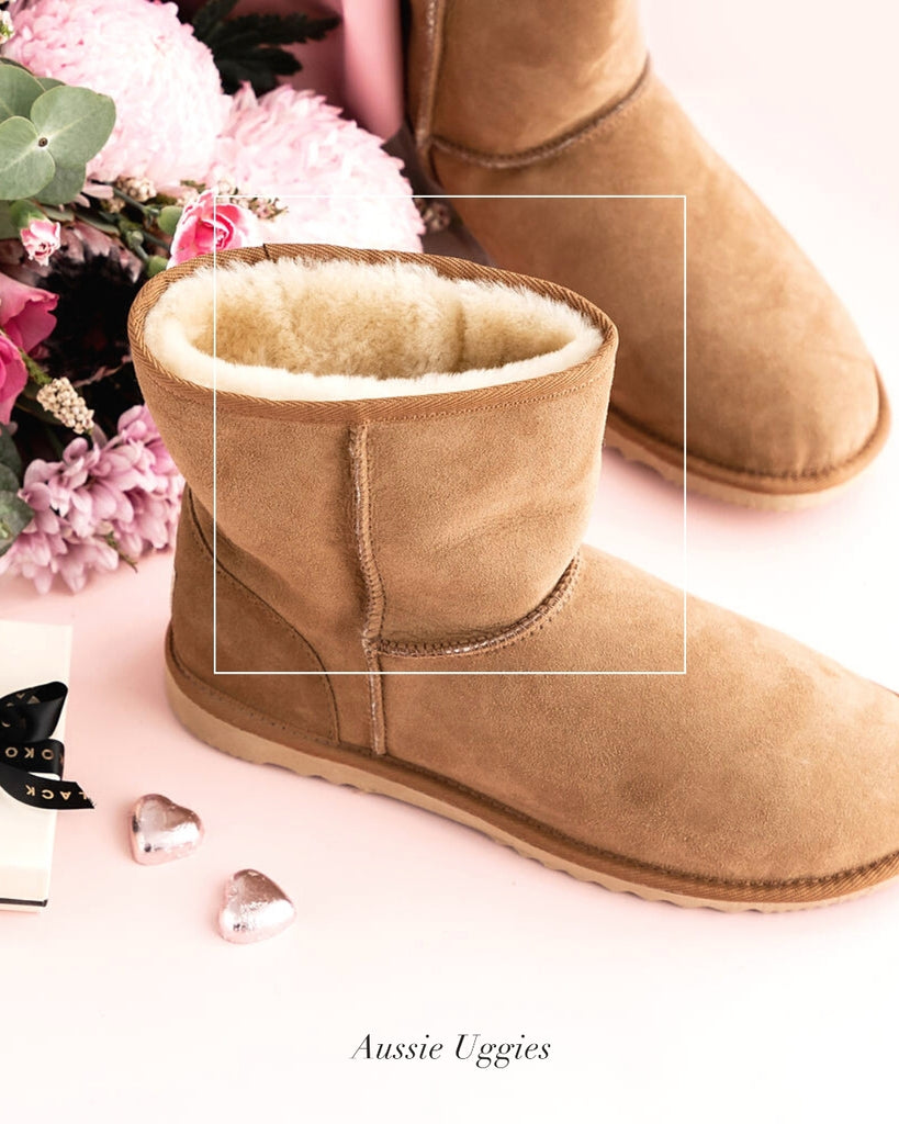 Aussie Uggies Mother's Day Classic Short Ugg Boot Chestnut