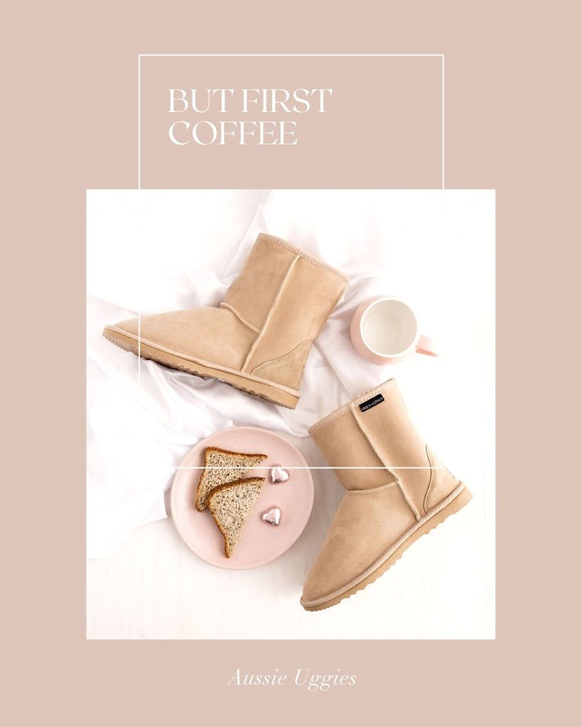Aussie Uggies Mother's Day Classic Short Ugg Sand