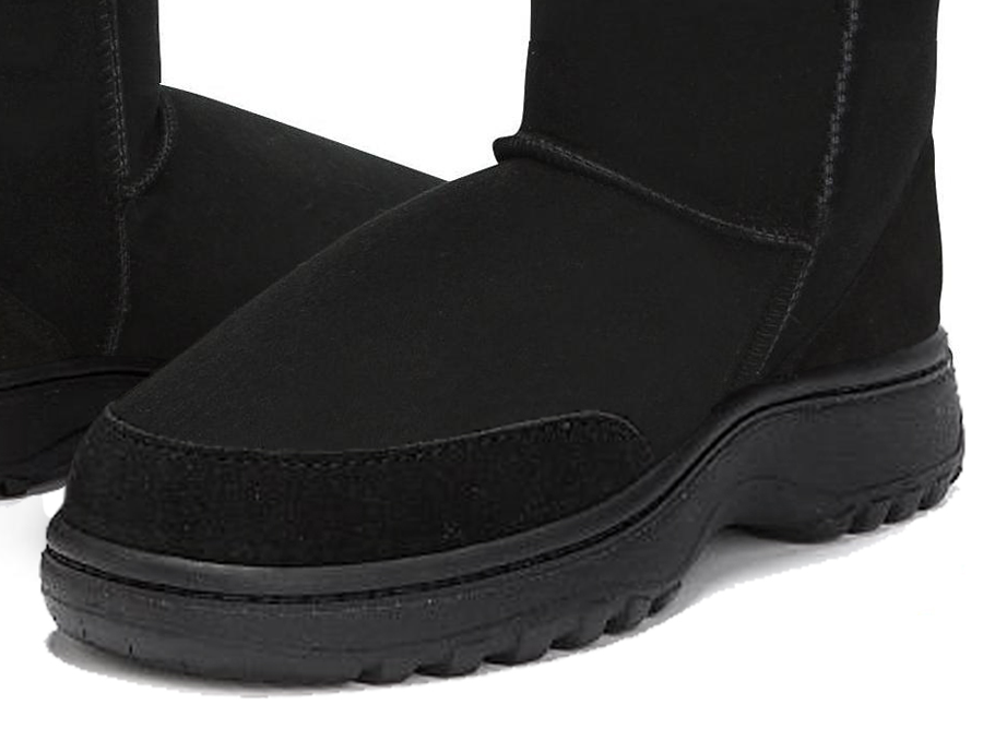 Adults Black Classic Ultra Short Ugg Boots Outdoor Sole Detail