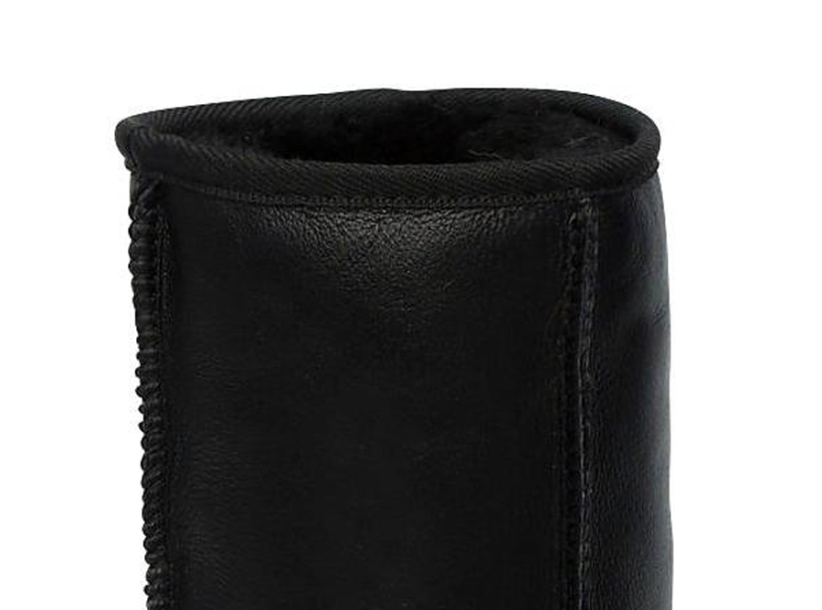 Adults Black Napa Short Deluxe Ugg Boots Cuff